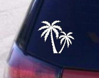 Car decal, Palm Trees, Palm Tree decal, Computer decal, Decal