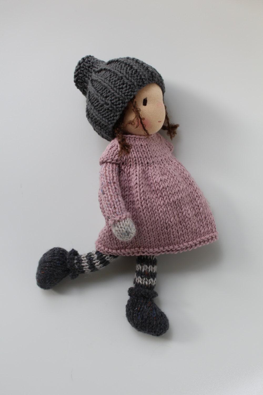Waldorf doll Waldorf knitted doll Robin Eco doll 10