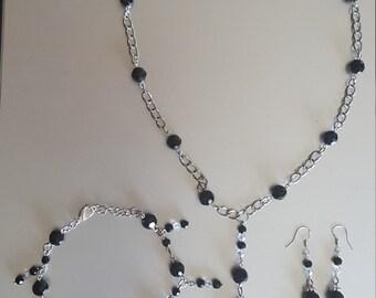 Black Swing Jewelry Set