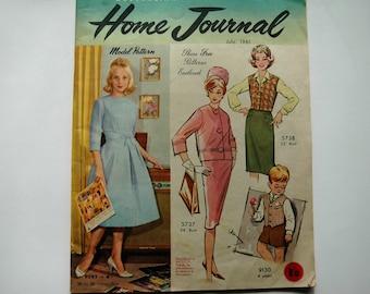 Australian Home Journal Magazine with free patterns - July 1961