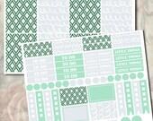 Erin Condren Planner Stickers Weekly Kit - Mint Scribbles. Erin Condren Vertical Planner Stickers.