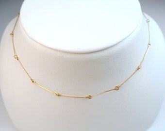 Thin Gold Necklace With Small Pendant Famous Necklace 2018