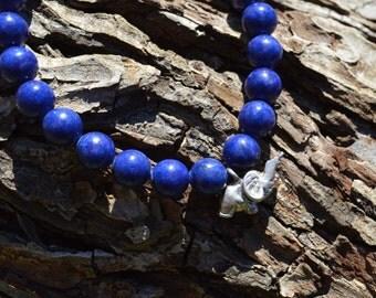 Knowledge is Power Sodalite Elephant bracelet
