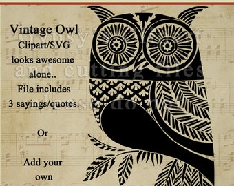 Owl SVG, Vintage Owl,SVG,  Owl always love your, t-shirt design, Vector, Cutting file, Cameo Silhouette, png, svg,ai,eps,
