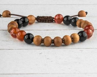Men Bracelet, Mala Bracelet, Bracelet for Men, Men Beaded Bracelet, Men Wood Bracelet, Sandalwood Bracelet, Japa Mala