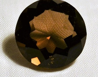 Smoky Quartz 18mm Round Brillant Cut at 17.6 Carats