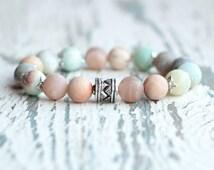 bracelet women gift bracelet for mother turquoise matte bracelet beaded bracelet casual gemstone beads girlfriend gift for friend Amazonite