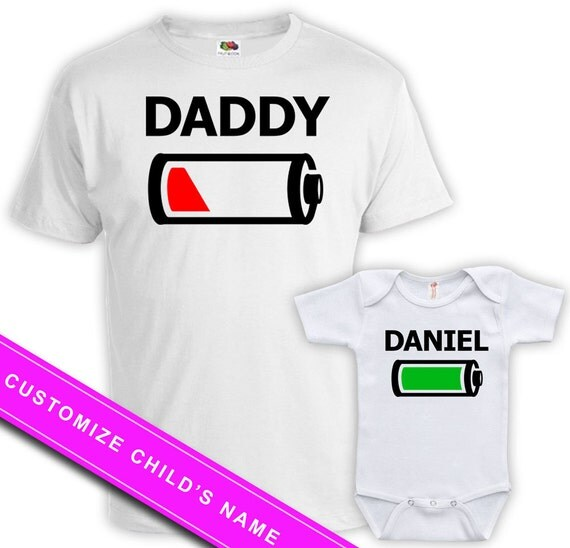 Matching Father Baby Daughter Shirts Daddy Son