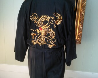 Vintage Dragon Robe made in Hong Kong