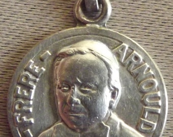 Arnould Brother Medal by C Chari - French Religious Pendant Necklace