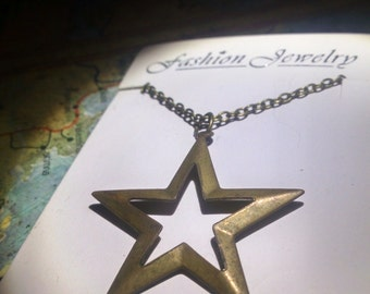 Star cut-out pendant