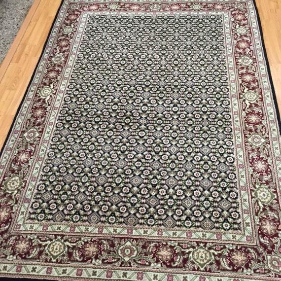 """4'2"""" x 6'2"""" Sino Chinese Oriental Rug - Wool & Silk - Hand Made"""