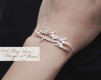 Custom Handwriting Bracelet / Personalized Handwriting Bracelet / Name bracelet / Silver bracelet - HB03