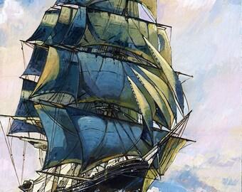 Sea Witch Clipper ship print