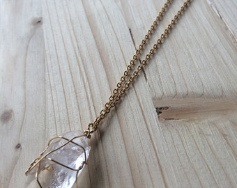 Wire-wrapped Crystal Necklace