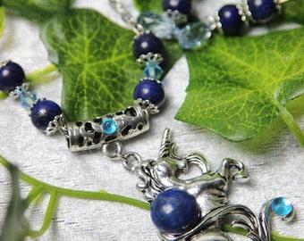 Lapis lazuli Unicorn ornament / / Unicorn adornment lapis lazuli