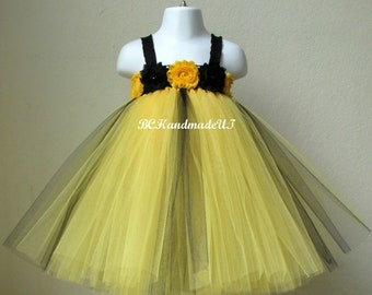 Bumble bee tutu, bee costume, baby bee tutu dress, bumble bee tutu dress, bee tutu, first birthday tutu, bumble bee dress, black yellow tutu