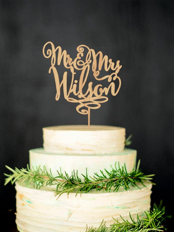 custom last name wedding cake toppers personalized last name wedding cake topper mr by 13213