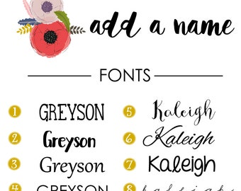 ADD ON *** Add a Name!- Personalize your blanket by adding your babies name!