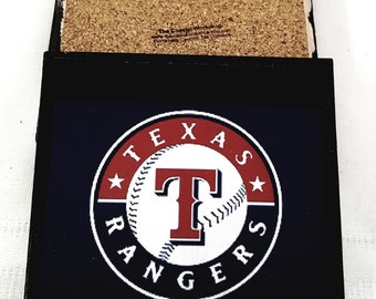 Texas Rangers Ceramic Tile Drink Coasters / Set of 4