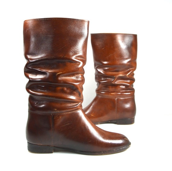 Wonderful Vintage Tall Rubber Winter Rain Boots Made In USA Womens 6