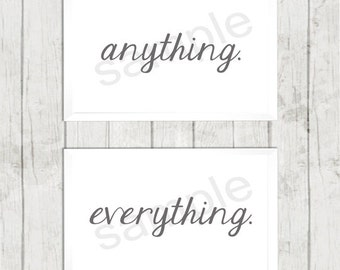 Anything, Everything, Couple, Wall Art, Print, Digital Download