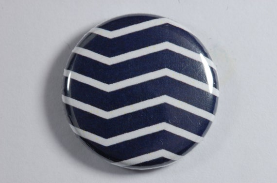 Magnet barette bracelet key holders navy white zigzag 5 for Miroir zig zag