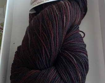 Cascade Heritage Hand Painted Sock Yarn Color # 9824, Lot # 9931  - Brown/Red