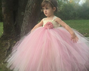 Girls Tutu Dress, Flower Girl Tutu Dress, Wedding Tutu, Mauve Tutu Dress, Photo Prop Tutu, Birthday Tutu Dress, Pageant Tutu Dress, Tutu