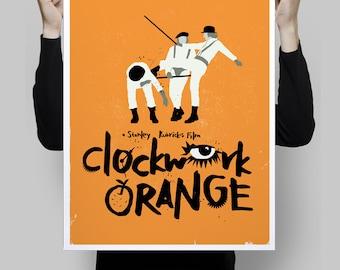 Alternative clockwork orange movie scene minimalist classic Stanley Kubrick film poster print wall art home geek decor