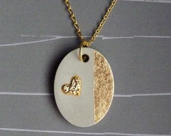 Concrete pendant necklace * glamour *.