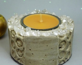 Concrete tea light holder * GLEAM *.