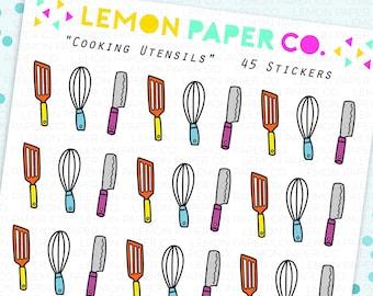 Cooking Utensils // Planner Stickers