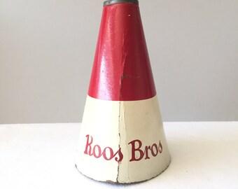 Vintage Cheer Megaphone - Roos Bros Clothing Store Bay Area CA - Stanford Colors