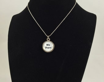 We Share (white) Pendant