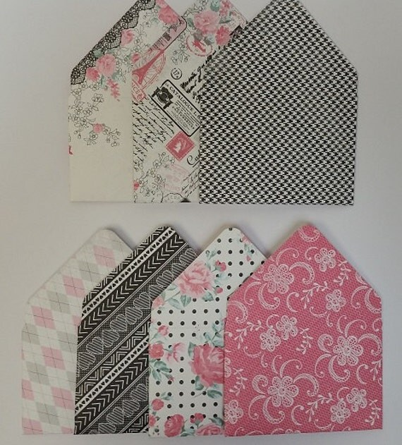 paris themed      black and pink themed gift card holders