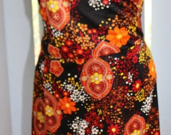 Floral Authentic 1970's Wrap around Dress