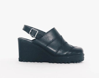 Vintage Leather Platform Shoes