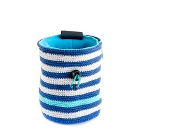 Unique Handmade Chalk Bag. Chalk Bag and Belt. Rock Climbing Gear - Handmade Chalkbag, M Size