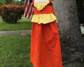 Pokemon Flareon Inspired Dress/Costume- Pokemon Costume- Pokemon Dress- Flareon Costume- Pokemon Birthday Outfit- Eevee Dress