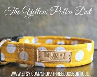 The Yellow Polka Dot Dog Collar
