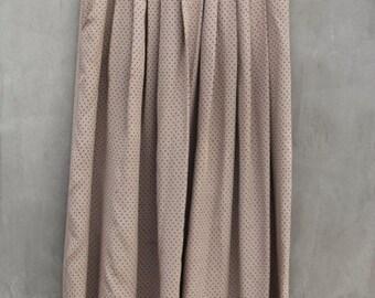 vintage taupe silk polka dot saint tropez west skirt