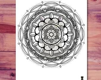 Mandala Printable Coloring Page