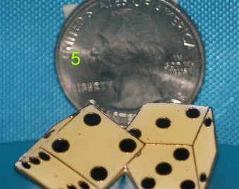 vintage pair of dice hat pin and pin back  -- 5