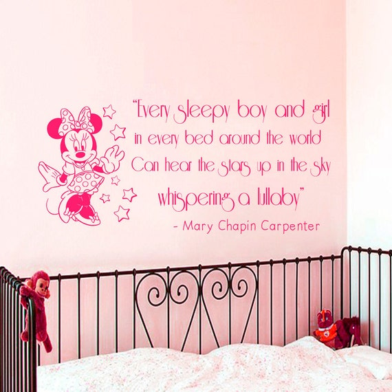 Disney Quotes Baby Girl: Wall Decal Quote Every Sleepy Boy And Girl By AmazingDecalsArt