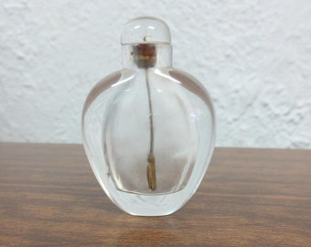 Vintage Clear Rock Crystal Quartz Snuff Bottle