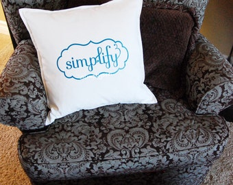 Simplify 20x20 pillow cover