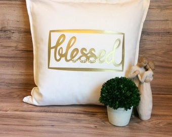 Blessed 20x20 pillow cover