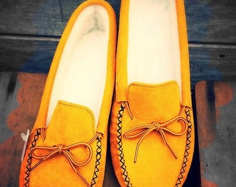 Authentic, Hand Made, Moccasin slippers