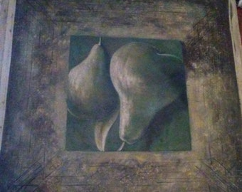 "43"" x 43"" Original Oil Painting Pears"